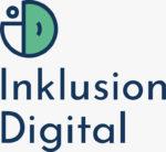 Logo Inklusion-Digital GmbH Ein rund stilisiertes ID, unterschrieben mit dem Unternehmensnamen